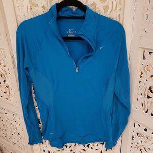 Nike dri-fit long sleeve half zipper shirt